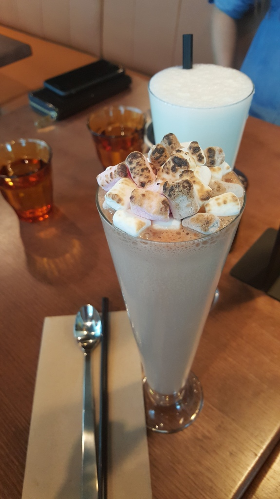 Nutella, frangelico and burnt marshmallows milkshake
