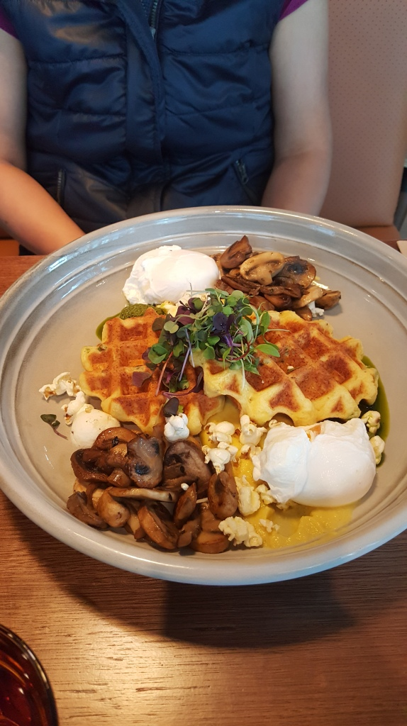 Polenta waffles